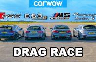 Audi RS6 v BMW M5 v AMG E63 v Porsche Panamera – DRAG RACE